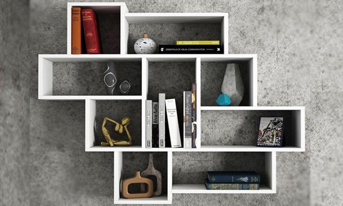 2 ספריית מדפים צפה דגם פרלה