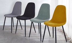 כיסא אוכל מרופד במגוון צבעים