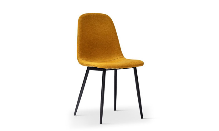 5 כיסא אוכל מרופד במבחר צבעים