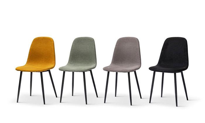 7 כיסא אוכל מרופד במבחר צבעים