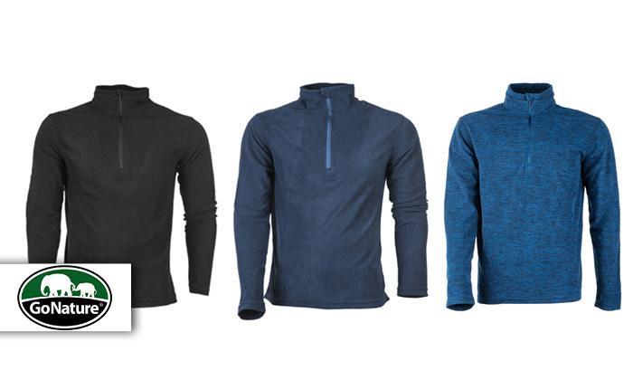 מארז שלוש חולצת מיקרופליז לגבר Go Nature, דגם HALF