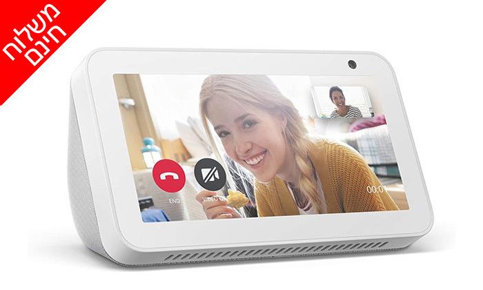 4 רמקול חכם עם מסך 5.5 אינץ' Amazon Echo Show 5 - משלוח חינם