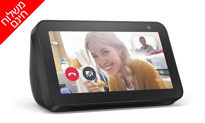 3 סט 2 רמקולים חכמים עם מסךבגודל 5.5 אינץ' Amazon, דגם Echo Show 5- משלוח חינם