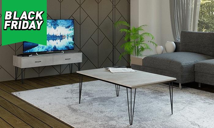 2 סט מזנון ושולחן לסלון House Design דגם מיקונוס