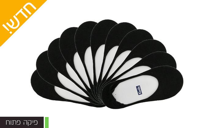 5 מארז 24 זוגות גרבייםעקביות יוניסקס ללא תפר KEDS במגוון דגמים לבחירה