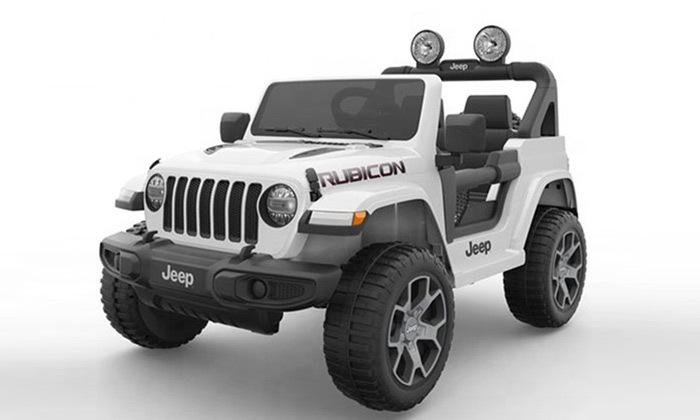 7 ג'יפ ממונע לילדים Jeep Wrangler 24V עם מערכת מולטימדיה