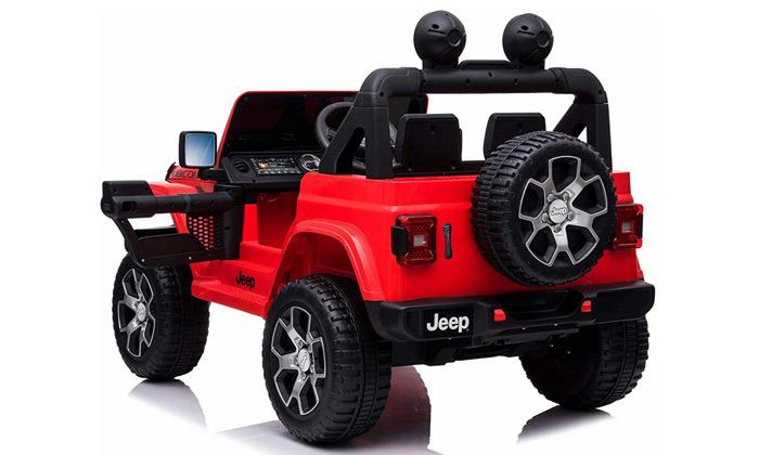 5 ג'יפ ממונע לילדים Jeep Wrangler 24V עם מערכת מולטימדיה
