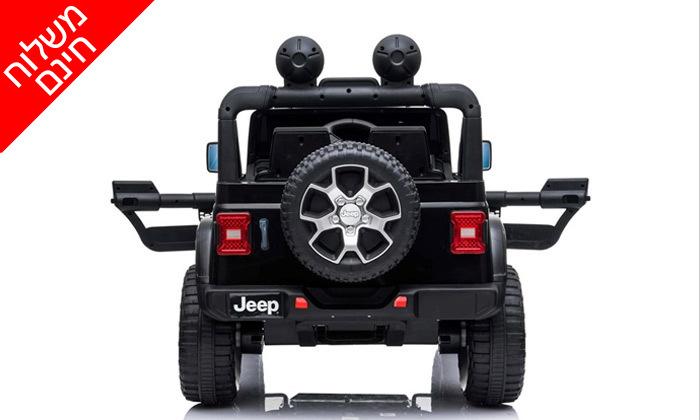 3 ג'יפ ממונע לילדים Jeep Wrangler 24V עם מערכת מולטימדיה - משלוח חינם