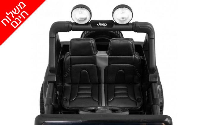 4 ג'יפ ממונע לילדים Jeep Wrangler 24V עם מערכת מולטימדיה - משלוח חינם