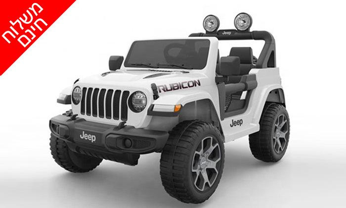7 ג'יפ ממונע לילדים Jeep Wrangler 24V עם מערכת מולטימדיה - משלוח חינם