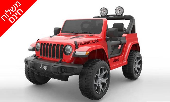 6 ג'יפ ממונע לילדים Jeep Wrangler 24V עם מערכת מולטימדיה - משלוח חינם