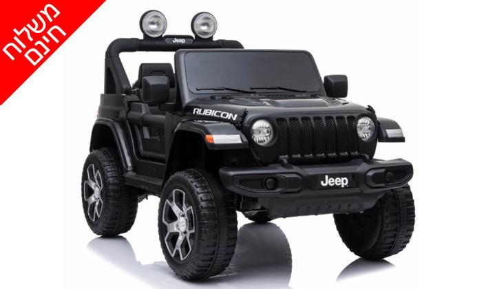 2 ג'יפ ממונע לילדים Jeep Wrangler 24V עם מערכת מולטימדיה - משלוח חינם