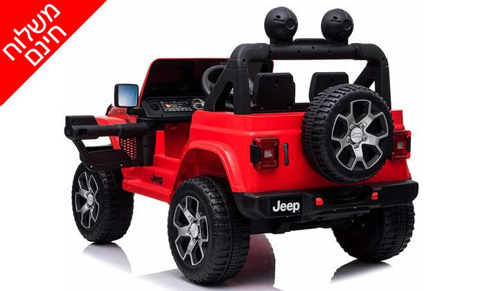 5 ג'יפ ממונע לילדים Jeep Wrangler 24V עם מערכת מולטימדיה - משלוח חינם