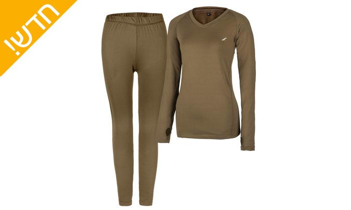4 סט חולצה ומכנסים תרמיים בטכנולוגיית COOL DRY
