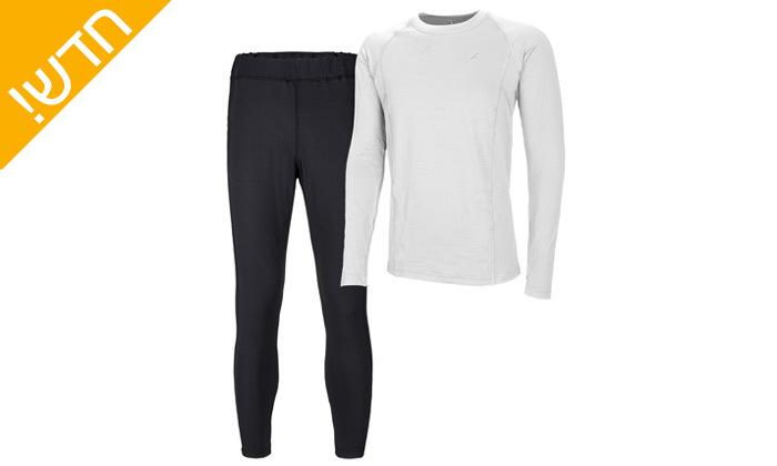 8 סט חולצה ומכנסים תרמיים בטכנולוגיית COOL DRY