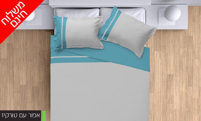 4 סט מצעים 100% כותנה פרקל למיטת יחיד או מיטה זוגית - משלוח חינם