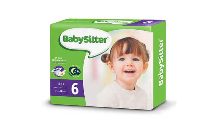 7 מארז 4 חבילות חיתולי בייביסיטר Babysitter
