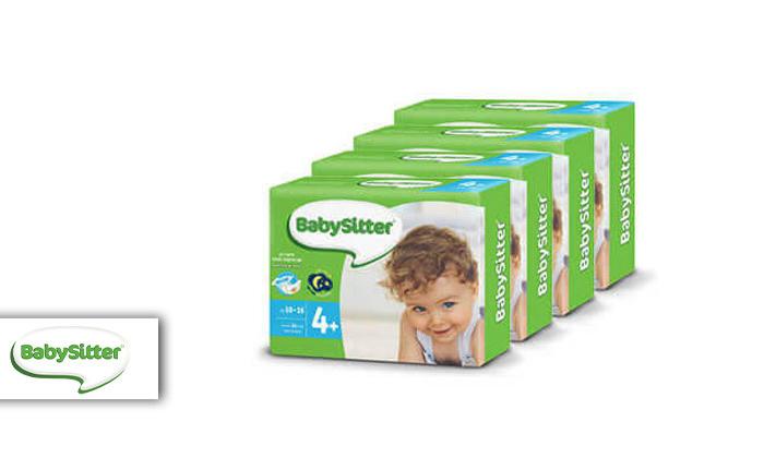 2 מארז 4 חבילות חיתולי בייביסיטר Babysitter