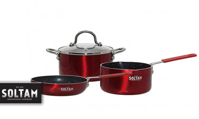 2 מארז כלי בישול 4 חלקים SOLTAM