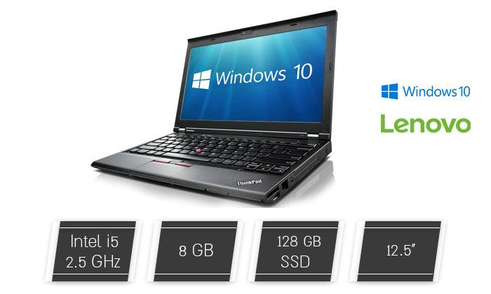 מחשב נייד Lenovo עם מסך 12.5 אינץ' ומעבד i5 - משלוח חינם