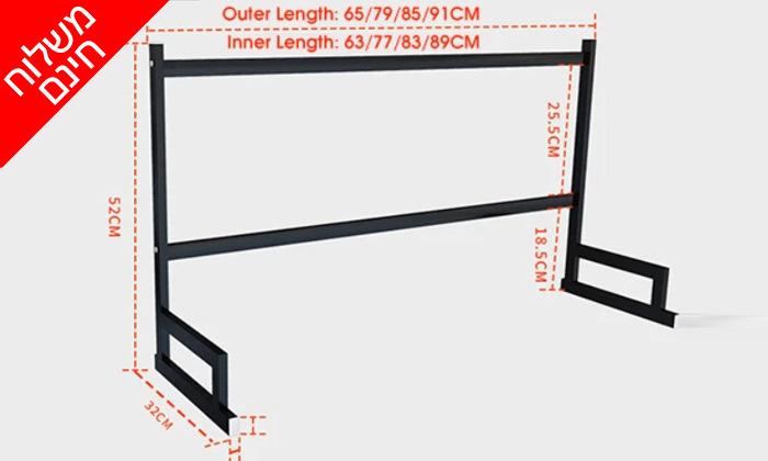 6 מתקן לייבוש כלים מעל הכיור או השיש HOMAX - משלוח חינם