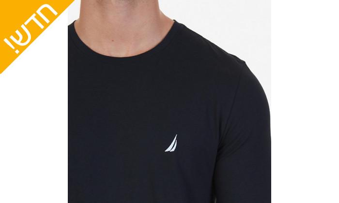 4 חולצת טי שירט שרוול ארוך נאוטיקה לגבר NAUTICA