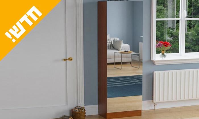 4 ארון נעליים ענק משולב דלת מראה דגם גפן