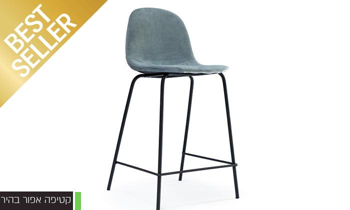 5 כיסא בר מרופד במבחר צבעים