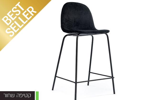7 כיסא בר מרופד במבחר צבעים