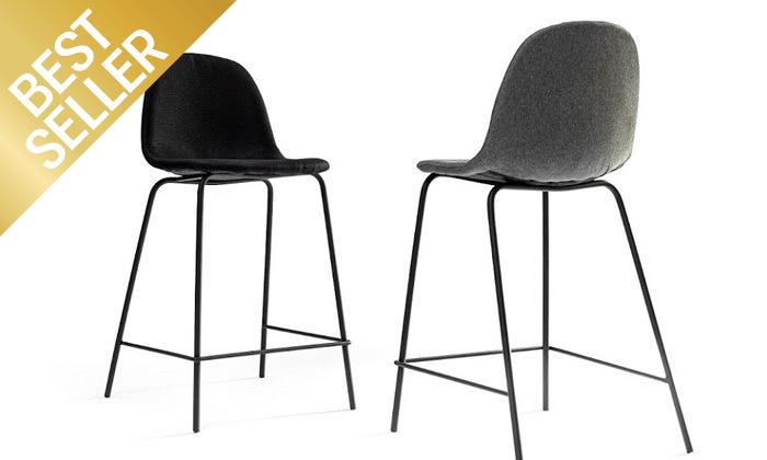 12 כיסא בר מרופד במבחר צבעים