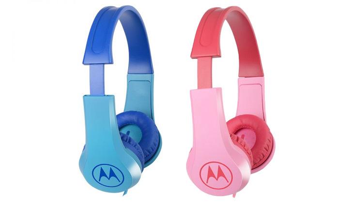 אוזניות חוטיות לילדים עם מפצל שמע MOTOROLA - משלוח חינם