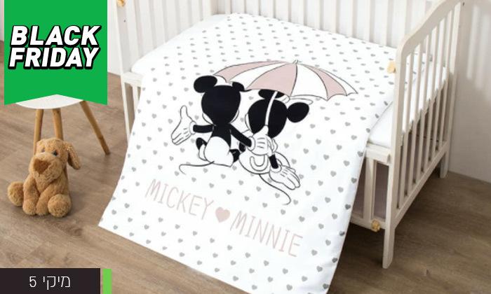 7 סט מצעים למיטת תינוק בדגמי מיקי ומיני מאוס