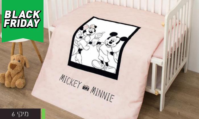 8 סט מצעים למיטת תינוק בדגמי מיקי ומיני מאוס