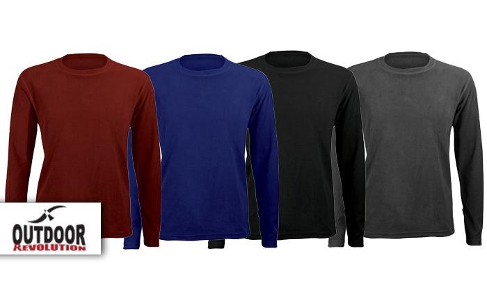 חולצת גברים תרמית LUKE Microfleece Outdoor