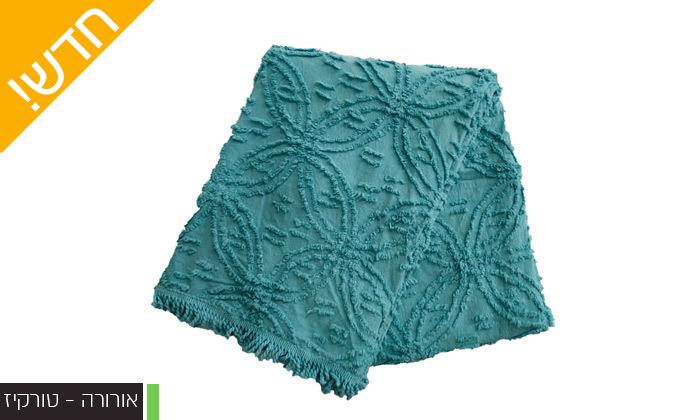 11 כיסוי מיטה 100% כותנה ASHRAM המשמש גם כשמיכה במגוון גדלים, דגמים וצבעים לבחירה