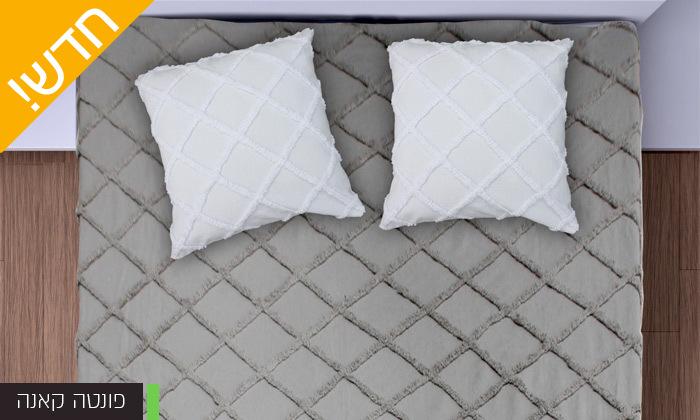 5 כיסוי מיטה 100% כותנה ASHRAM המשמש גם כשמיכה במגוון גדלים, דגמים וצבעים לבחירה