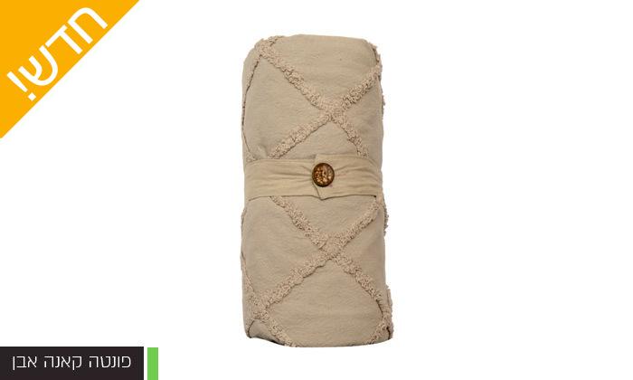 14 כיסוי מיטה 100% כותנה ASHRAM המשמש גם כשמיכה במגוון גדלים, דגמים וצבעים לבחירה