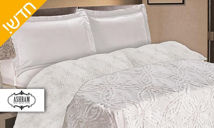 2 כיסוי מיטה 100% כותנה ASHRAM המשמש גם כשמיכה במגוון גדלים, דגמים וצבעים לבחירה