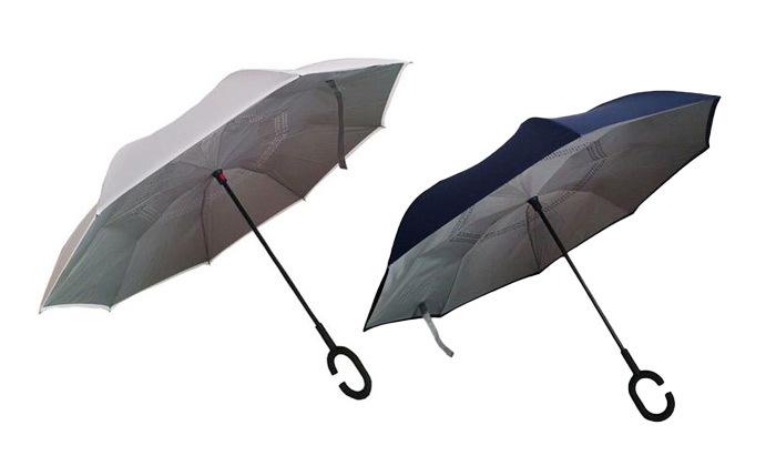 2 שתי מטריות מתהפכות עם הפטנט החדשני לפתיחה וסגירה הפוכה