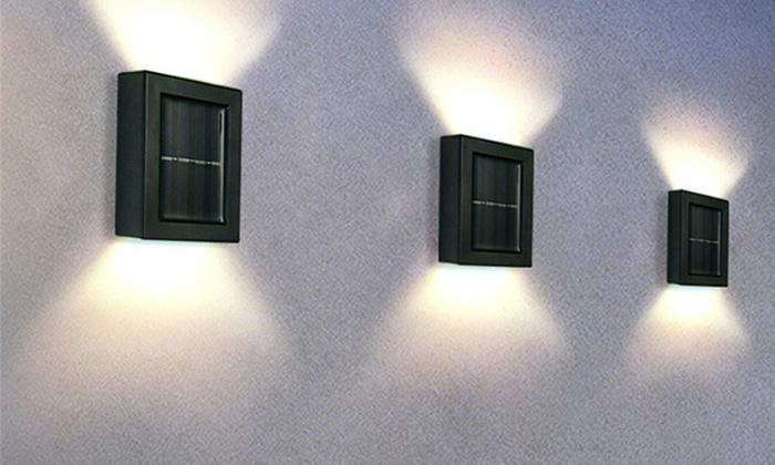 3 זוג מנורות סולאריות ללא צורך בחיבור לחשמל