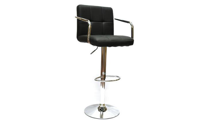 3 זוג כיסאות בר בריפוד דמוי עור עם משענות ידיים ROSSO ITALY