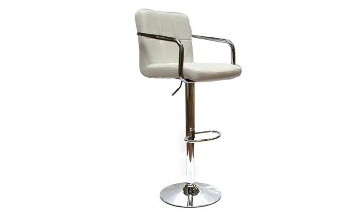 6 זוג כיסאות בר בריפוד דמוי עור עם משענות ידיים ROSSO ITALY