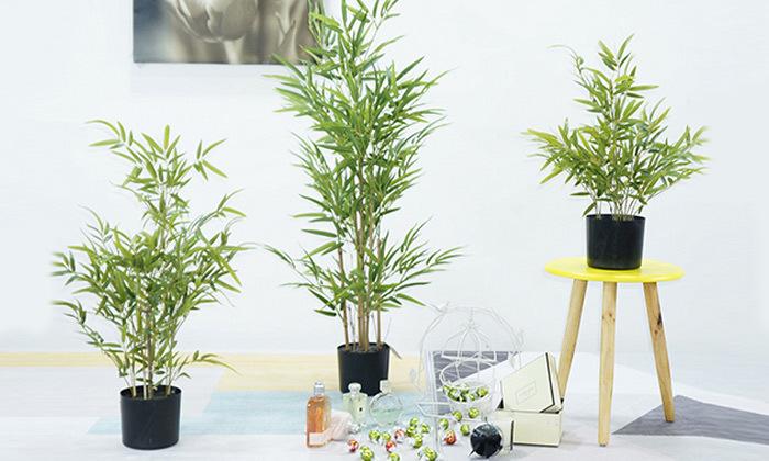 2 צמחים מלאכותיים עם מעמדים