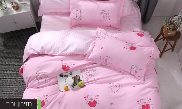 12 סט מצעים למיטה זוגית במבחר דגמים