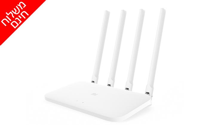 4 נתב חכם4 אנטנותXiaomi דגםMi Router 4A EU - משלוח חינם