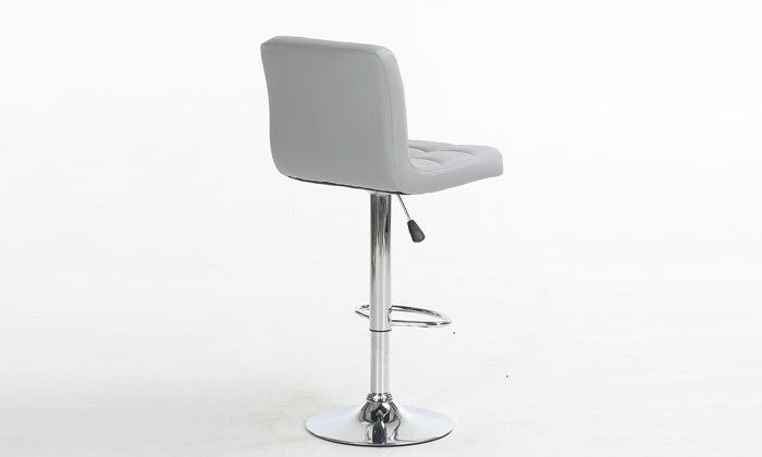 6 זוג כיסאות בר בריפוד דמוי עור