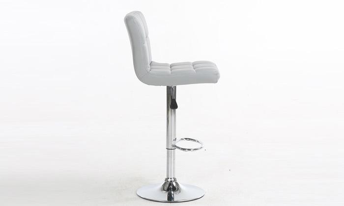 7 זוג כיסאות בר בריפוד דמוי עור