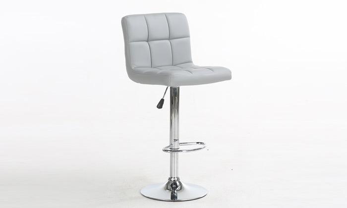 5 זוג כיסאות בר בריפוד דמוי עור