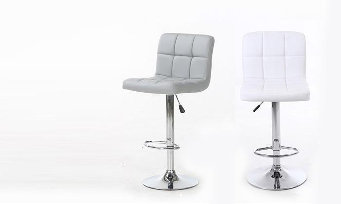 2 זוג כיסאות בר בריפוד דמוי עור