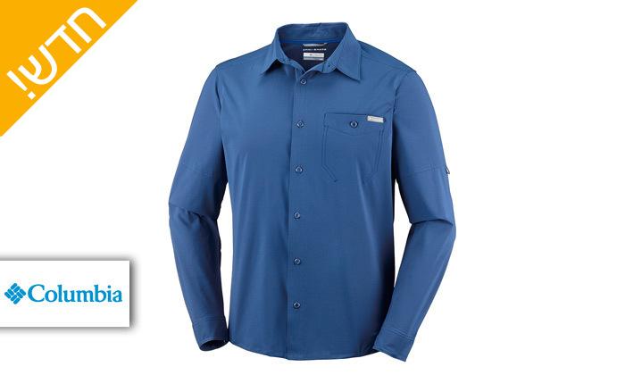 2 חולצה מכופתרת לגבר שרוול ארוך Columbia